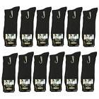 New Lords 12 Pairs Mens Fashion Ribbed Dress Socks Cotton