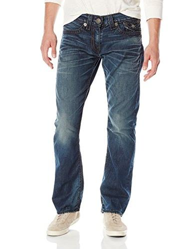 True Religion Men's Ricky Rope Stitch Relaxed Fit Jean, City