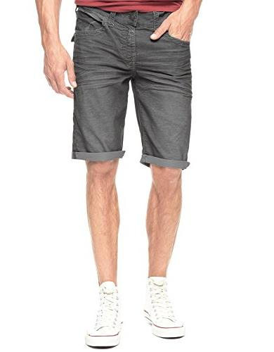 True Religion Men's Ricky Straight Corduroy Short Iron 42