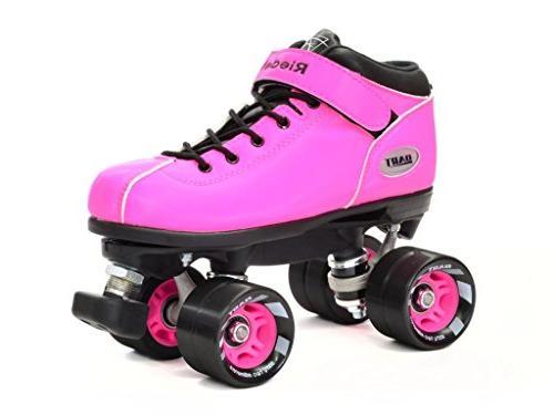 Riedell Dart Quad Roller Derby Speed Skates Pink, Mens 8 /