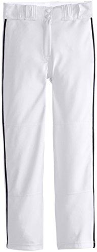 Easton Boys' Rival Piped Pant, White/Navy, Large