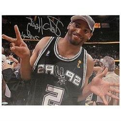 Robert Horry Signed Autographed 15x20 Stretched Canvas San