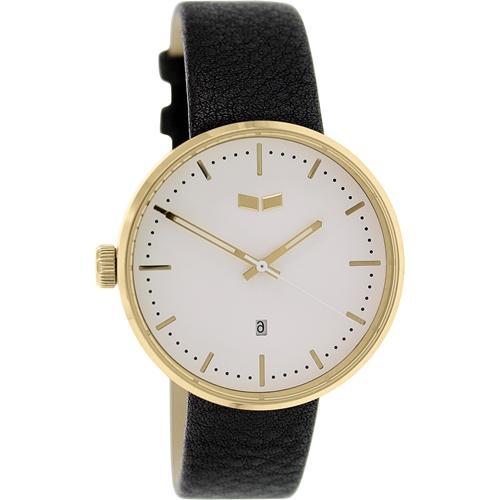 Vestal Men's Roosevelt ROS3L005 Black Leather Quartz Watch