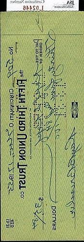 Rube Bressler JSA Authenticated Signed Check Autograph