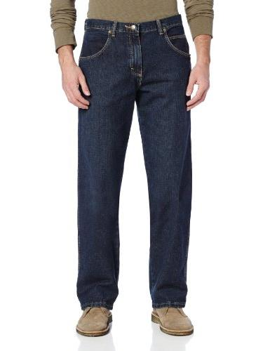 Wrangler Men's Rugged Wear Relaxed Straight Fit Jean,Blue,