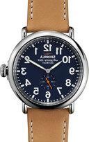 Shinola 47mm Runwell Leather Strap Watch
