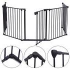 Baby Safety Fence Hearth Gate BBQ Metal Fire Gate Fireplace