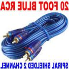 NEW SAMURAI AUDIO 20 FT 2 CH BLUE TWISTED CAR AMP RCA CABLES