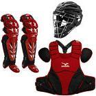Mizuno Samurai Youth Baseball Catcher's Package - Black/Red