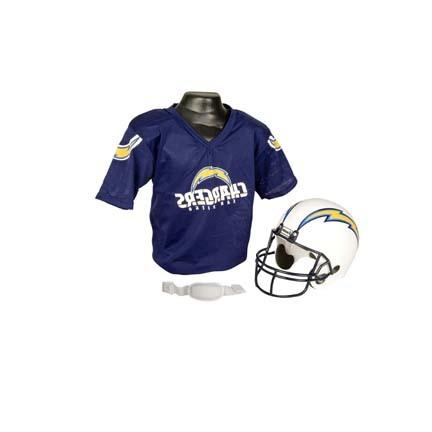 Franklin San Diego Chargers Football Helmet and Jersey Set