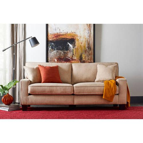 Serta Santa Cruz Collection Deluxe Sofa, Platinum Fabric