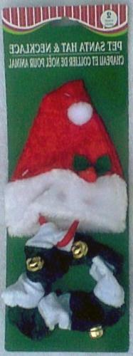 Santa Hat and Jingle Bell Collar for Cats or Dogs