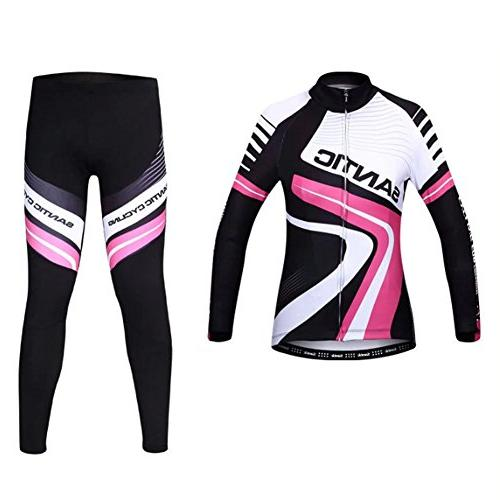 Santic Men's Fleece Thermal Long Sleeve Cycling Jersey And