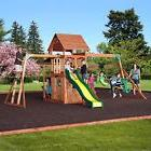 Saratoga Cedar Swing Play Set Playground Backyard Kid