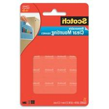 Scotch Removable Mounting Squares , 1 x 1 Inches, 16 squares