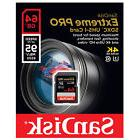 SanDisk 64GB 64G Extreme PRO SD SDXC Card 95MB/s Class 10