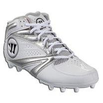 Warrior Second Degree 3.0 LaCrosse Cleat, White/Silver, 8.5