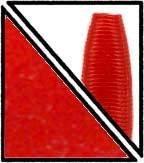 "Gary Yamamoto 5"" Senko Red No Flake 9-10-008"