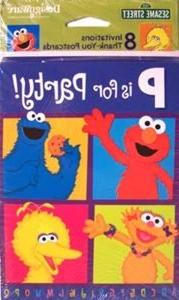 "Sesame Street ""P is for Party"" Invitations - 8 Count"