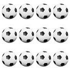 Set of 12 Table Soccer Foosballs Replacements Mini Black and