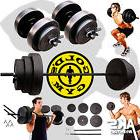 Weight Sets 140lbs Barbell Dumbells Home Gym Fitness