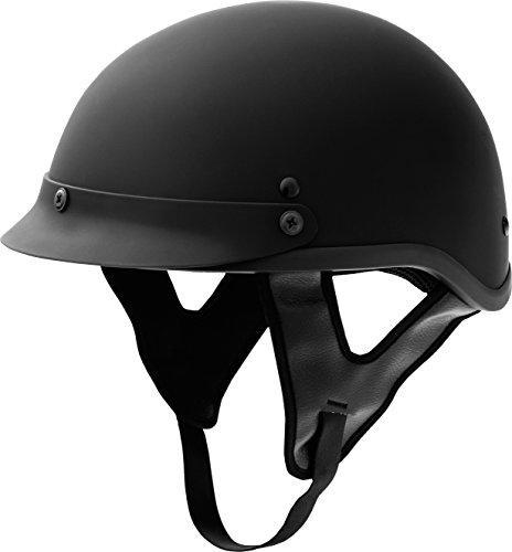 Fuel Helmets SH-HHFL64 HH Series Half Helmet, Flat Black,