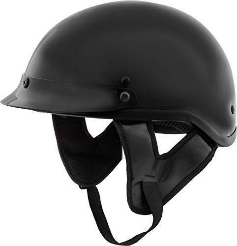 Fuel Helmets SH-HHGL17 HH Series Half Helmet, Gloss Black, X