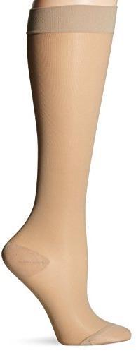 Dr. Scholl's Women's Sheer Moderate Support Socks,  Beige,