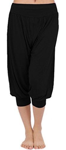 's Short Leggings Yoga Herem Pants Belly Dance Fitness