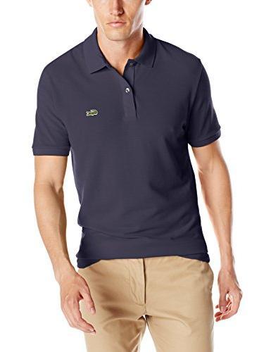 Lacoste Men's Short Sleeve Classic Pique Slim Fit Polo Shirt, Navy Blue, 7