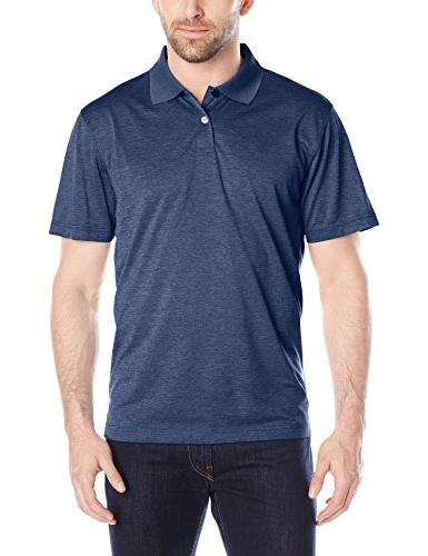 Haggar Men's Short-Sleeve Marled Polo Shirt, Stainless Steel