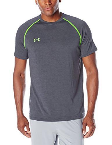 Men's UA TechTM Shortsleeve T-Shirt Tops by  Crimson/white X