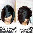 Women's Short Straight Black Synthetic Hair Heat Resistant