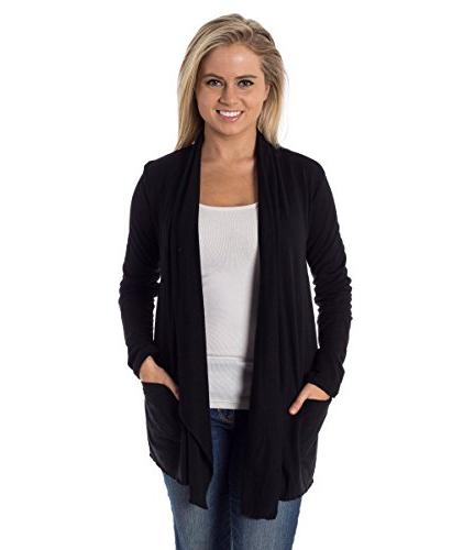 Converse Women's Shrug Open Cardigan Black S