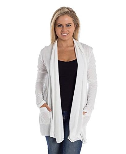 Converse Women's Shrug Open Cardigan White XS