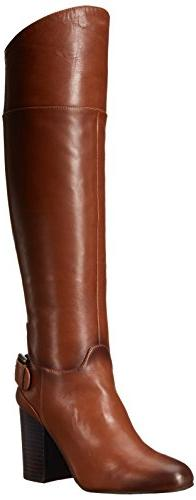 Vince Camuto Women's Sidney Riding Boot, Warm Brown, 5.5 M US