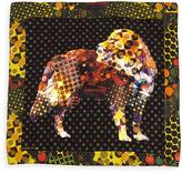 Etro Silk Dog-Print Pocket Square, Yellow Multi