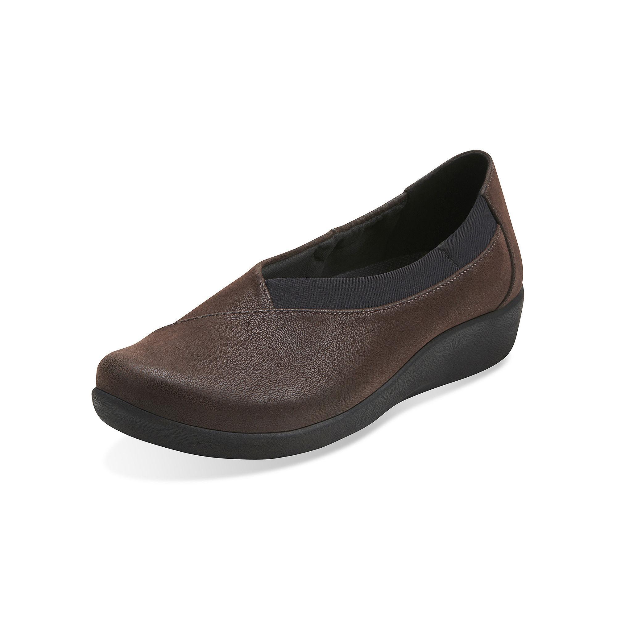 Clarks Sillian Jetay Nubuck Slip-On Shoes