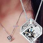 Fashion Women's 925 Sterling Silver Chain Crystal Rhinestone