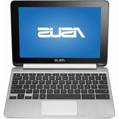 """ASUS Silver 10.1"""" Flip Chromebook PC with Rockchip 3288-C"""