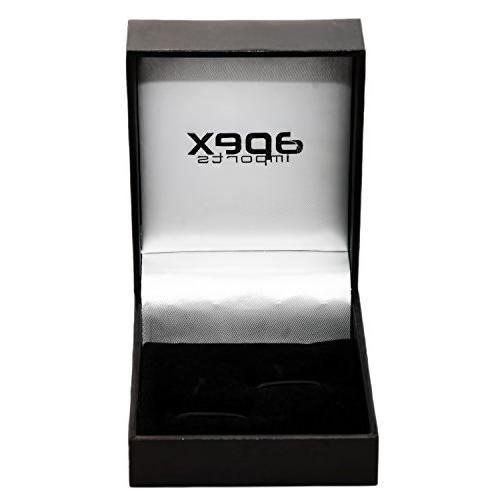 APEX Fun Pencil Pink Cateye Cufflinks with Gift Box