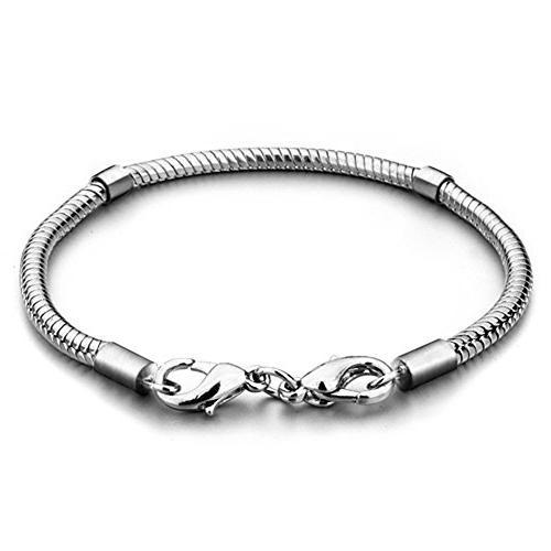 LovelyJewelry Silver Plated Master Charm Bracelet Fits