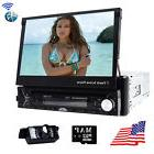 "Single 1 DIN 7"" HD Flip Up GPS NAV Car Stereo CD DVD MP3"