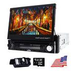 "7"" Single Din Car Stereo DVD Player GPS Navigation Bluetooth"