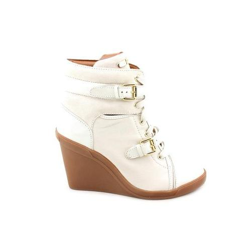 MICHAEL KORS SKID WEDGE IVORY VANILLA LEATHER WOMEN SHOE