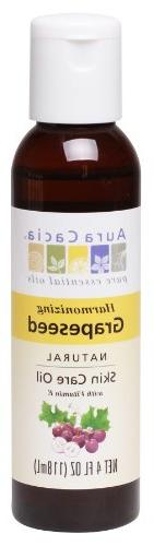 Aura Cacia Skin Care Oil - Grapeseed - 4 oz