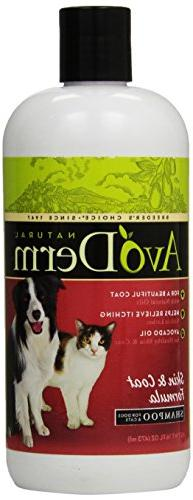 AvoDerm Natural Skin and Coat Formula Shampoo for Dogs and