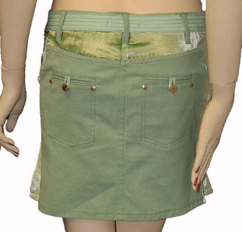 Roberto Cavalli Womens Skirt Orange Cotton, 40, Orange
