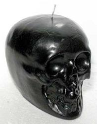 "Skull Black 3 1/2"" Candle"