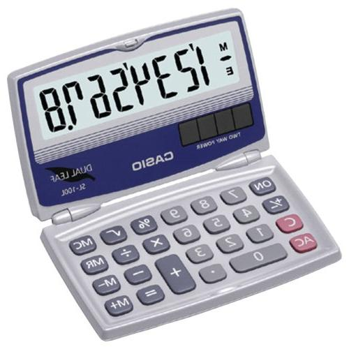 CIOSL100L - CASIO SL-100L Solar Calculator with Folding Hard